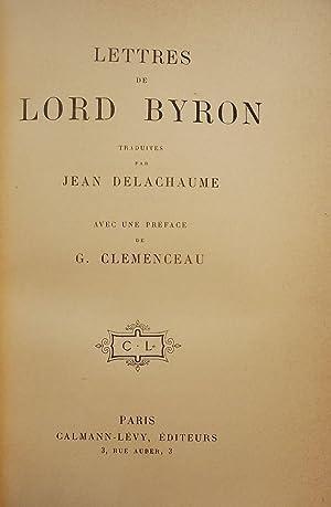 LETTERS DE LORD BYRON: CLEMENCEAU, G.