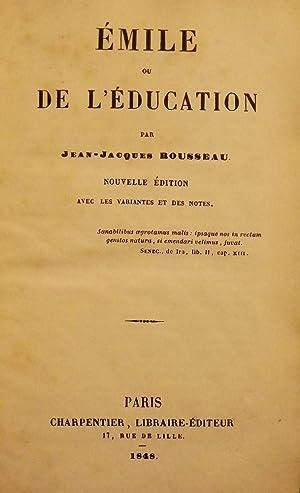 EMILE OU DE L'EDUCATION: ROUSSEAU, Jean-Jaques