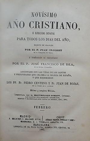 NOVISIMO ANO CRISTIANO: CROISSET, El P. Juan
