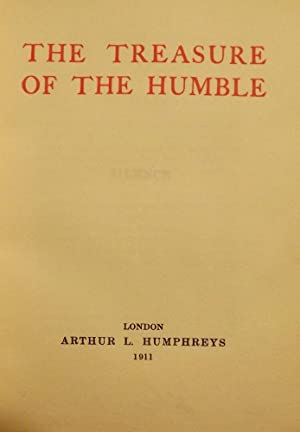THE TREASURE OF THE HUMBLE: MAETERLINCK, Maurice