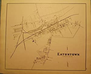 EATONTOWN MAP, 1878: WOOLMAN AND ROSE ATLAS OF THE NEW JERSEY COAST
