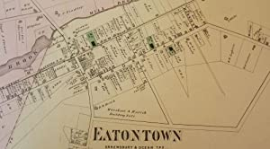 EATONTOWN, NEW JERSEY: 1873 MAP: F.W. BEERS ATLAS OF MONMOUTH COUNTY