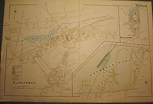 EATONTOWN MAP: 1889: WOLVERTON'S ATLAS OF
