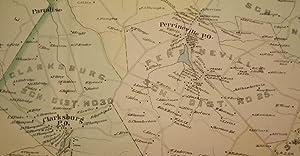 MILLSTONE TOWNSHIP MAP, 1889: WOLVERTON'S ATLAS OF