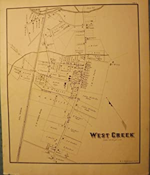 WEST CREEK MAP 1878: WOOLMAN AND ROSE ATLAS OF THE NEW JERSEY COAST