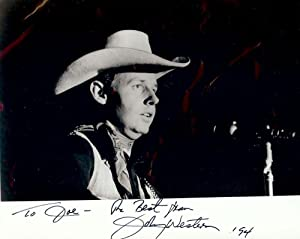Signed Photograph: WESTERN, Johnny
