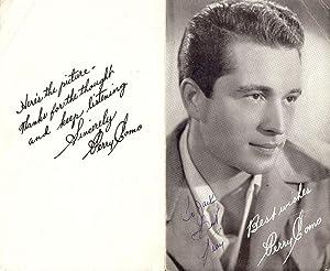 Autograph Signature: COMO, Perry