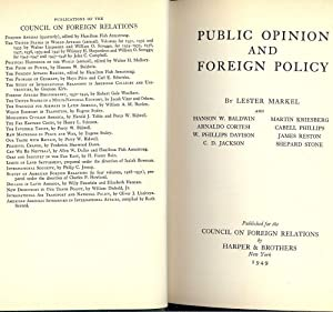 PUBLIC OPINION AND FOREIGN POLICY: MARKEL, Lester
