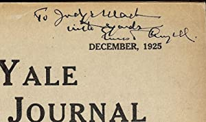 YALE LAW JOURNAL: DECEMBER, 1925: ANGELL, Ernest