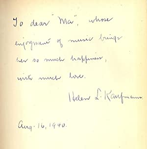 YOU CAN ENJOY MUSIC: KAUFMANN, Helen L.