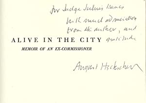 ALIVE IN THE CITY: MEMOIR OF AN EX-COMMISSIONER: HECKSCHER, August