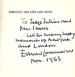 DEBUSSY: HIS LIFE AND MIND: LOCKSPEISER, Edward
