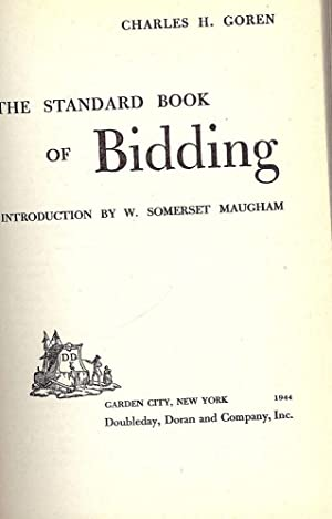 THE STANDARD BOOK OF BIDDING: GOREN, Charles H.