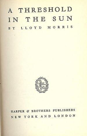 A THRESHOLD IN THE SUN: MORRIS, Lloyd
