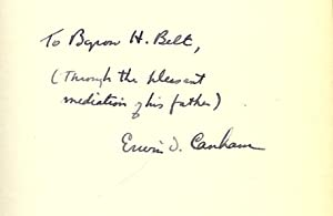 NEW FRONTIERS FOR FREEDOM: CANHAM, Erwin D.