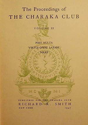 THE PROCEEDINGS OF THE CHARAKA CLUB: VOLUME: VOGEL, Karl
