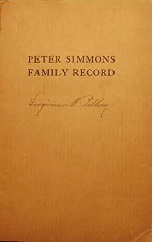PETER SIMMONS FAMILY RECORD: SIMMONS, Kiddoo P.
