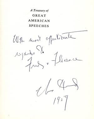 A TREASURY OF GREAT AMERICAN SPEECHES: HURD, Charles
