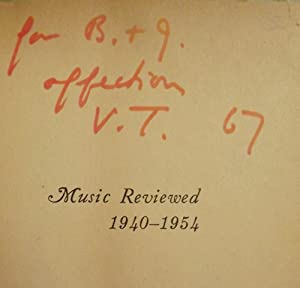 MUSIC REVIEWED, 1940-1954: THOMPSON, Virgil