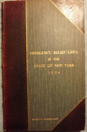 EMERGENCY RELIEF IN THE STATE OF NEW YORK