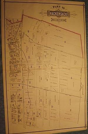 BERGEN COUNTY: HACKENSACK 1876 MAP: PEASE, C.C.