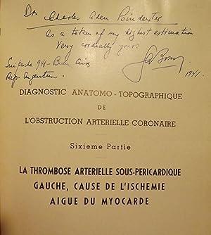 DIAGNOSTIC ANATOMO-TOPOGRAPHIQUE DE L'OBSTRUCTION ARTERIELLE CORONAIRE: BOSCO, Guillaume A.