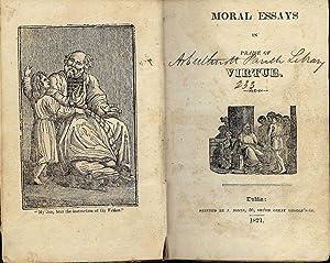 MORAL ESSAYS IN PRAISE OF VIRTUE: JONES, J.