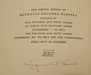 MOURNING BECOMES ELECTRA: O'NEILL, EUGENE
