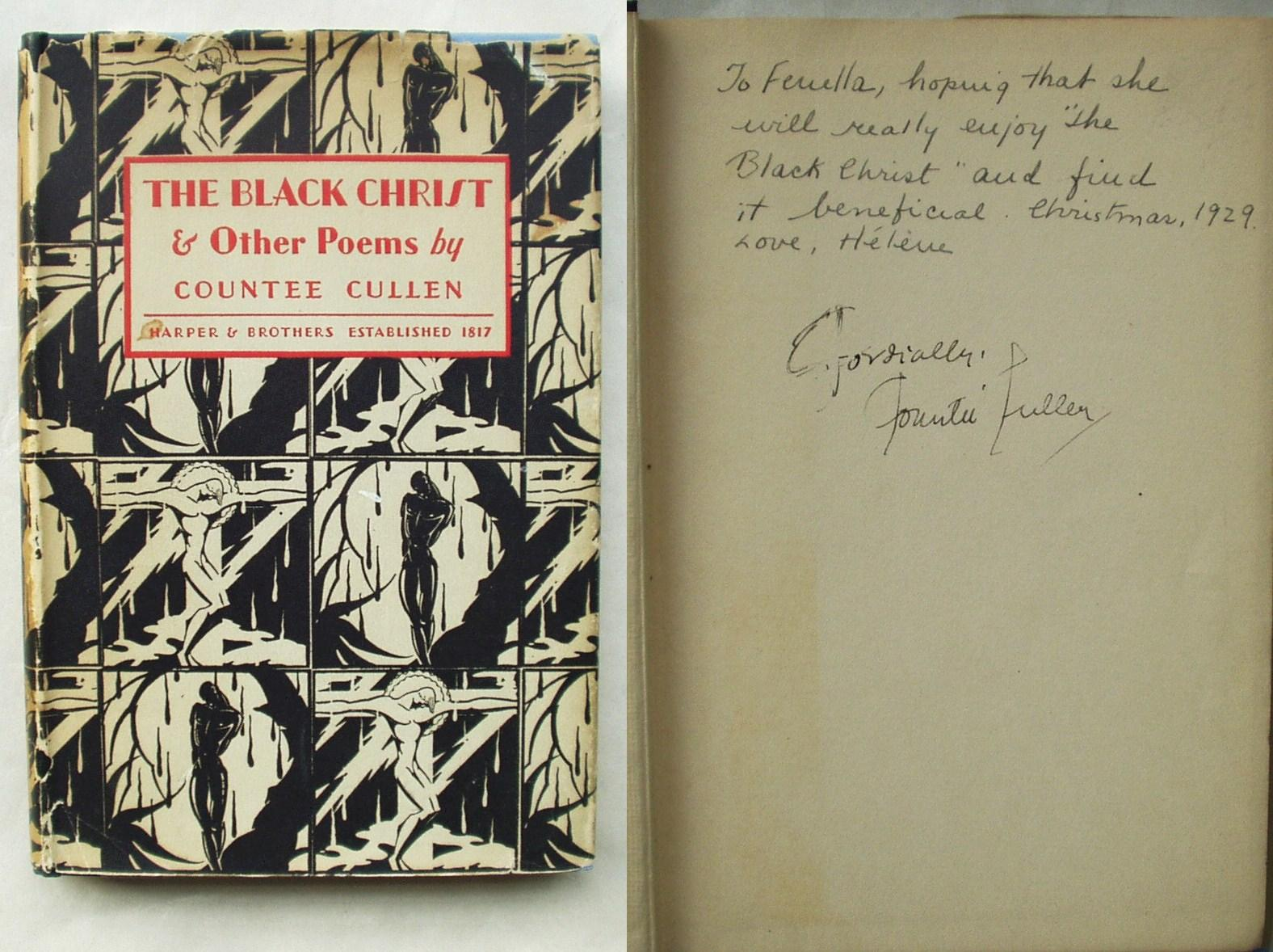 Book Cover Black Jacket ~ The black christ other poems by cullen countee harper