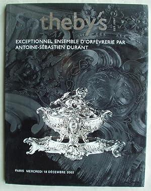 Exceptionnel Ensemble d'Orfevrerie Par Antoine-Sebastien Durant: Sotheby's