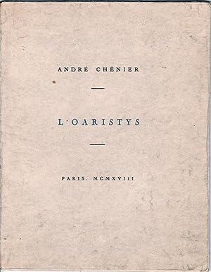 L'Oaristys: Chénier, André ;