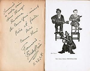Les Fratellini, histoire de trois clowns recueillie: Fratellini, Paul, François