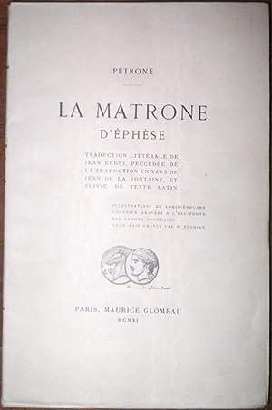 La Matrone d'Ephèse. Traduction littérale de Jean: Pétrone - Redni,