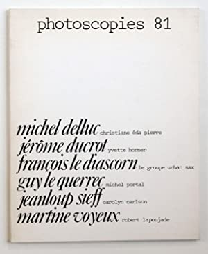Photoscopies 81 : Michel Delluc, Jérôme Ducrot,: Delluc, Michel -
