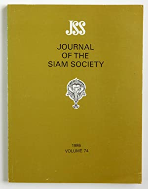 Journal of the Siam Society, 1986, volume 74
