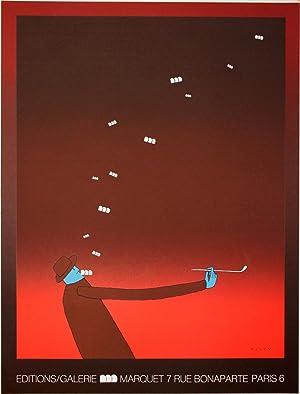 Affiche en sérigraphie :] Editions / Galerie: Folon, Jean-Michel