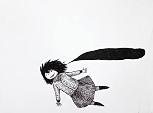 Sans titre [Fille volante / Flying girl] [dessin original signé / original drawing, signed]