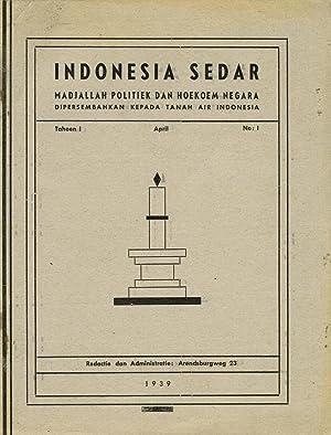 Indonesia Sedar. Madjallah politiek dan hukum negara,: Mr. Soenarjo (dir)