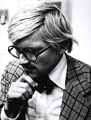 [Photographie originale] Portrait photographique de David Hockney par Jean-Michel Folon, ca 1974