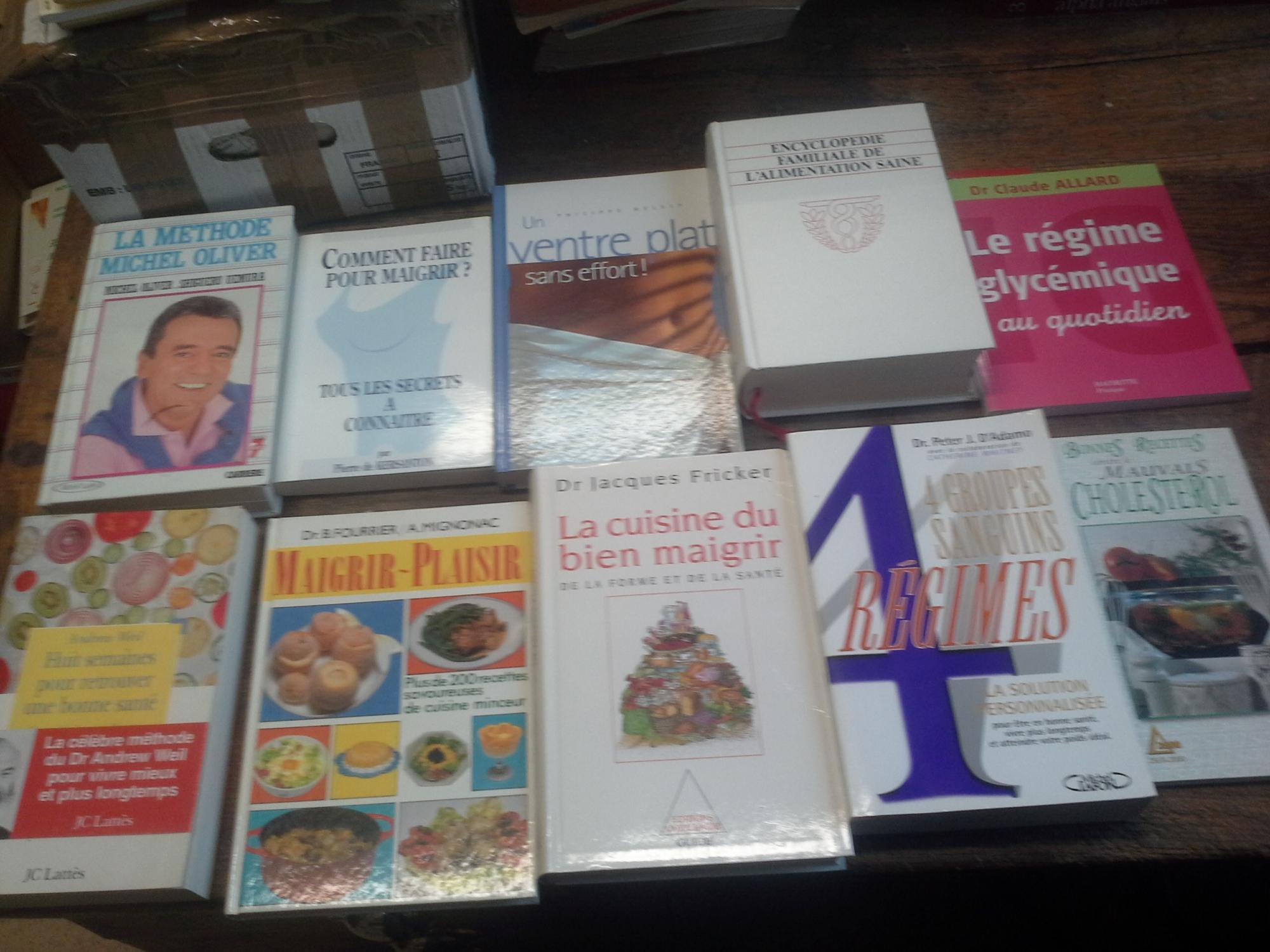 lot 22 livres pour maigrir sant di t tique recettes. Black Bedroom Furniture Sets. Home Design Ideas