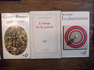 Lot de 3 livres de Nathalie Sarraute: Nathalie Sarraute