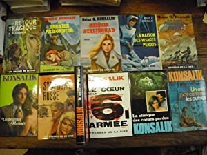 Lot de 11 livres de Konsalik le