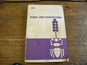 Index phytosanitaire 1982