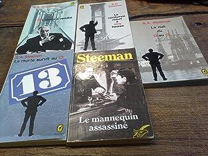 Lot de 5 livres de Steeman : Steeman