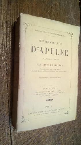 Oeuvres complètes d'Apulée traduitee en français par: Apulée