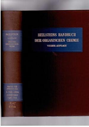 Beilsteins Handbuch Der Organischen Chemie, Vierte Auflage, Drittes Erganzungswerk, Der Literature ...