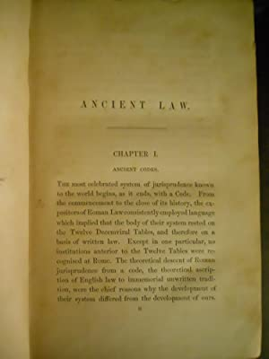 ANCIENT LAW - ITS CONNECTION WITH THE EARLY HISTORY OF SOCIETY, AND ITS RELATION TO MODERN IDEAS: ...