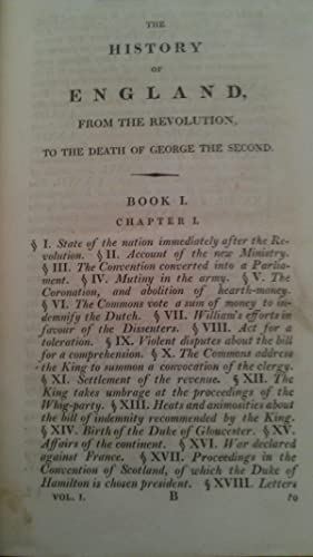 The History of England, from The Revolution to The Death of George The Second. (Designed as a ...