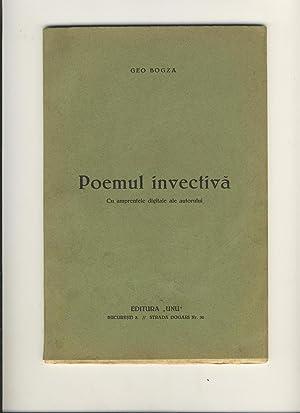 Poemul invectiva, cu amprentele digitale ale autorului.: Geo Bogza