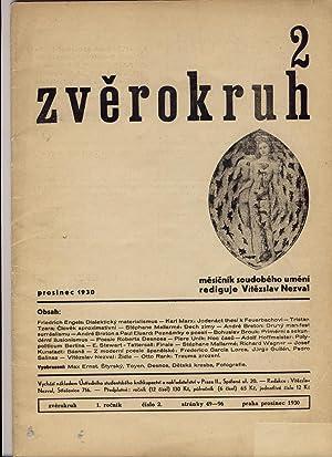 Zverokruh. Mesicník soudobého umení. Roc. I, cis.: Vitezslav Nezval, ed.